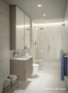 Bathroom - Light Light Scheme